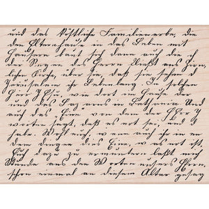 Mounted Rubber Stamp Old Letter Writing