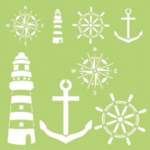 Nautical Elements Template 12x12""