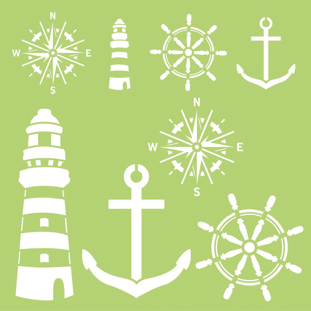 Nautical Elements Template 12x12