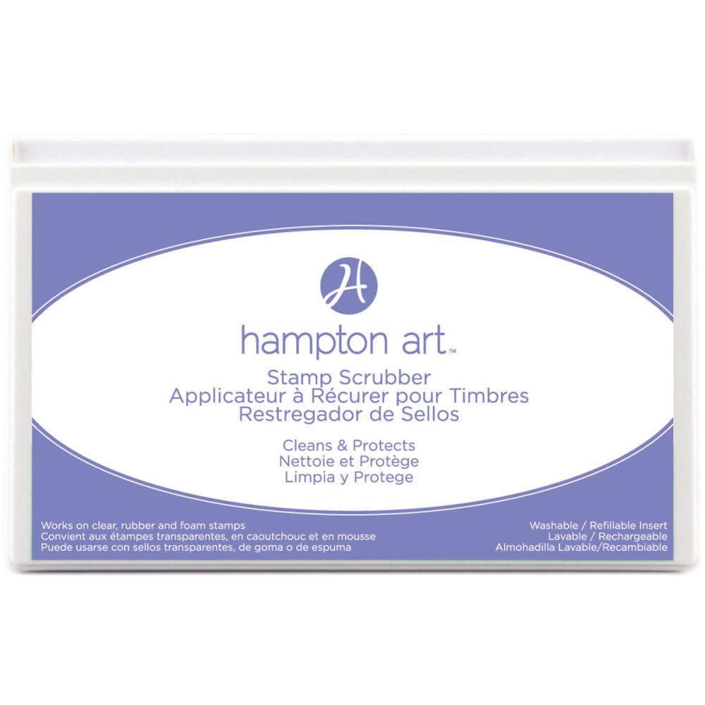 Hampton Art Stamp Scrubber Cleaning Pad & Case.