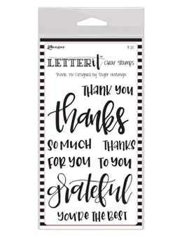 Clear Stamps Ranger Thank You