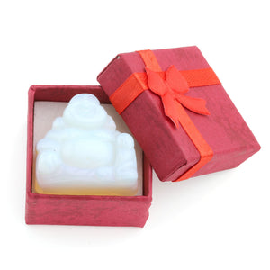 "1x 1.2"" Carved Crystal Gemstone Buddha With Gift Box"