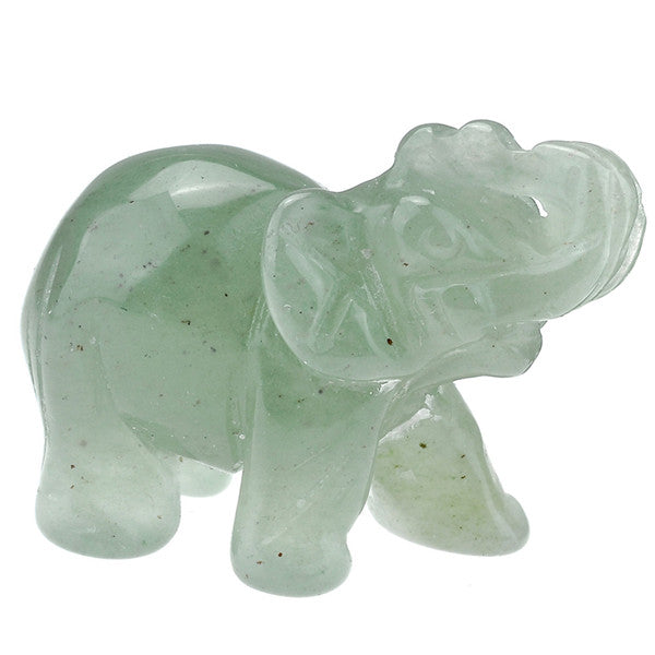 Carved Elephant Figurine