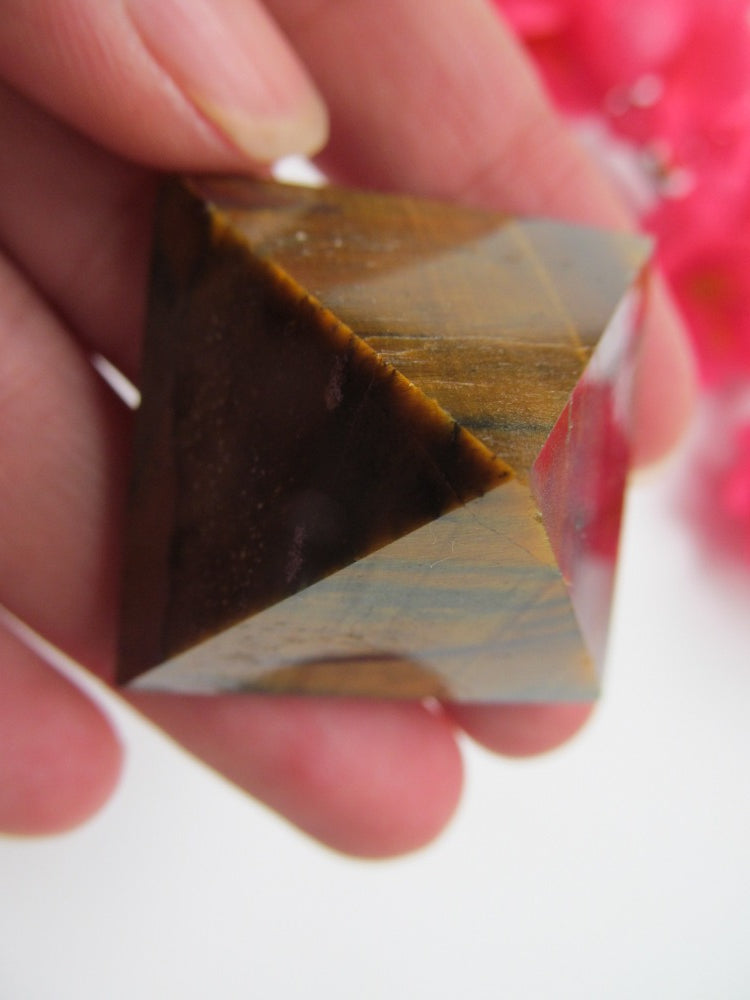 Tiger's Eye Pyramid Large