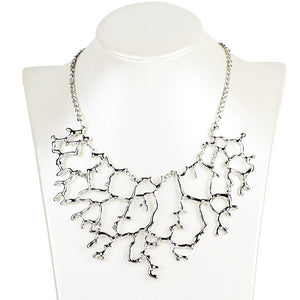 Elegant Geometric Openwork Statement Necklace
