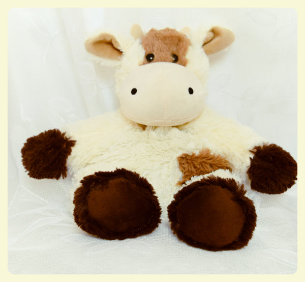 cow brown and white cuddly sensory cuddly animals