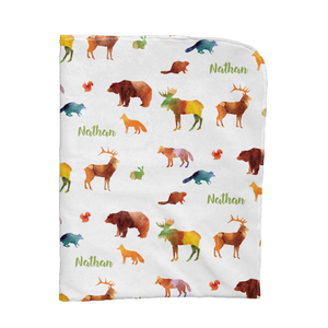 Water Colour Animals Blanket