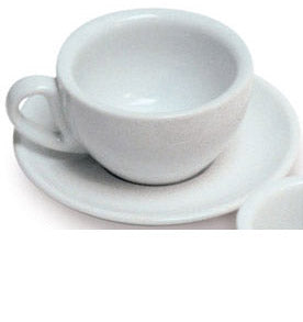 White Cappuccino Cup & Saucer Set  180mls - 6 Sets