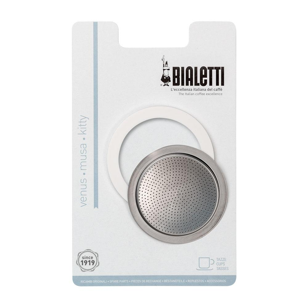 Bialetti Stainless Steel  4 Cup Seal & Filter Kit - 6.4cm