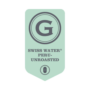 UNROASTED SWISS WATER® Decaffeinated Peru Organic Rainforest Alliance