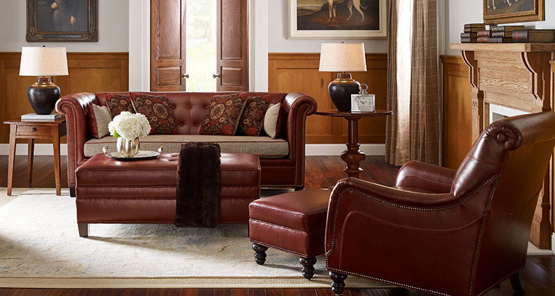 Maitland Leather Sofa. Stickley Chicago Sectional