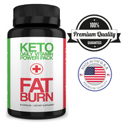 1 FREE BOTTLE | KETO DAILY VITAMIN POWER PACK + FAT BURN | Just Pay S&H