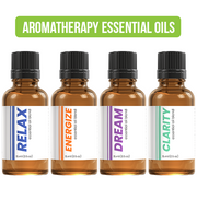 AROMATHERAPY ESSENTIAL OILS - ENERGIZE, CLARITY, DREAM, RELAX (4PK)