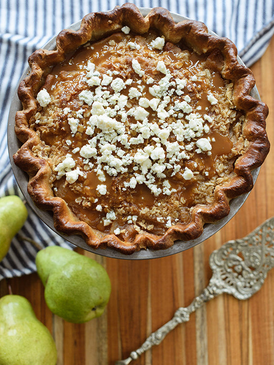 Justice of the Pies - Blue Cheese Praline Pear Pie
