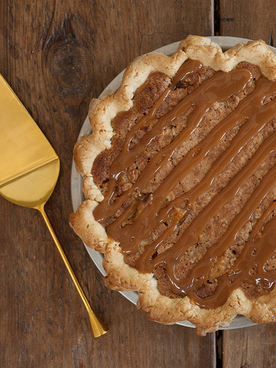 Justice of the Pies - Salted Caramel Peach Pie