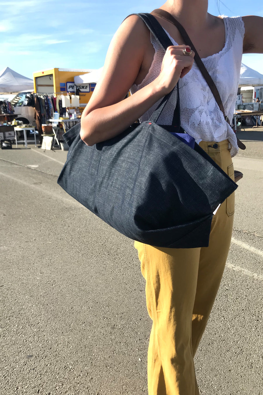 Grand Carryall Tote | Denim