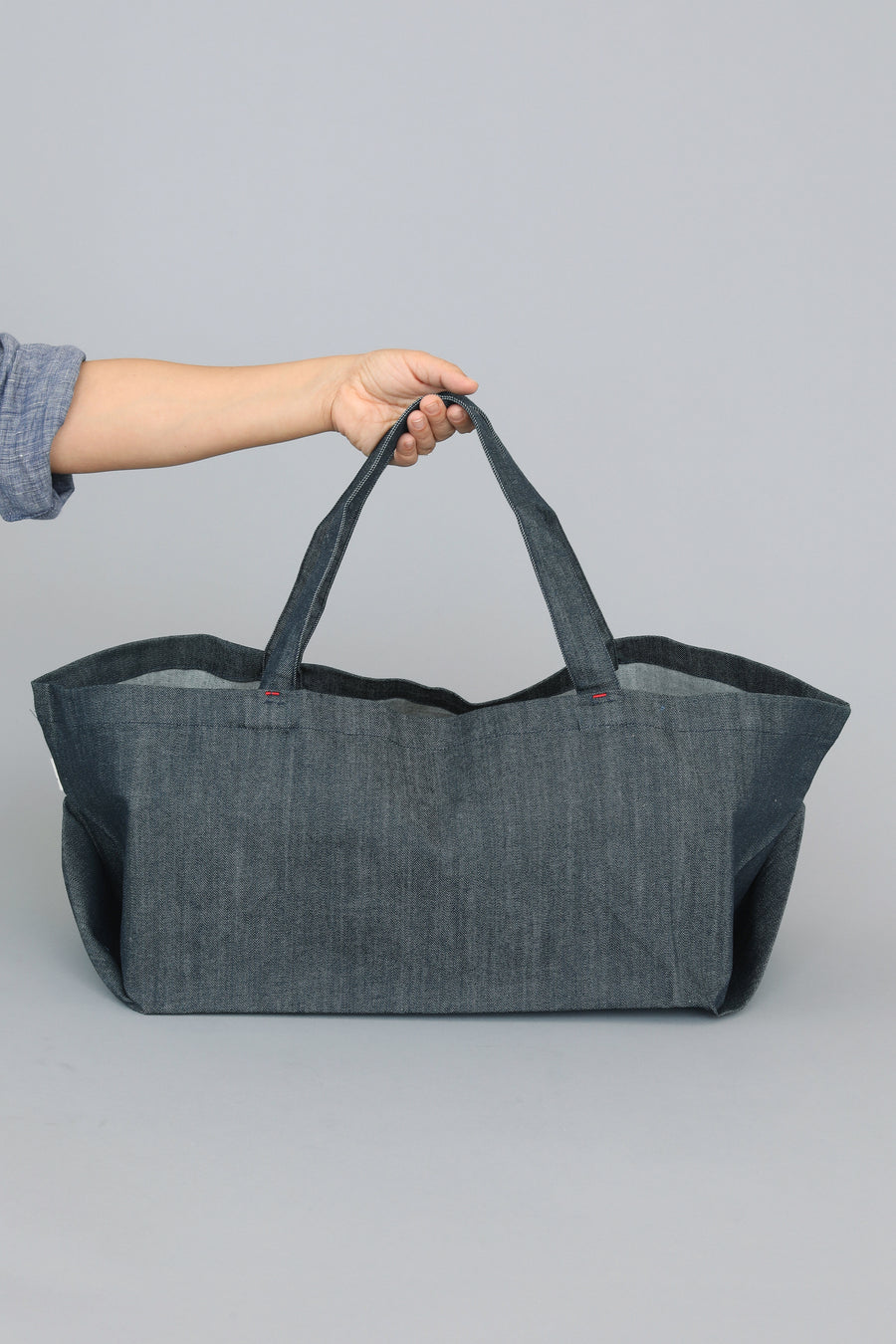 Grand Carryall Tote | Denim - Aplat