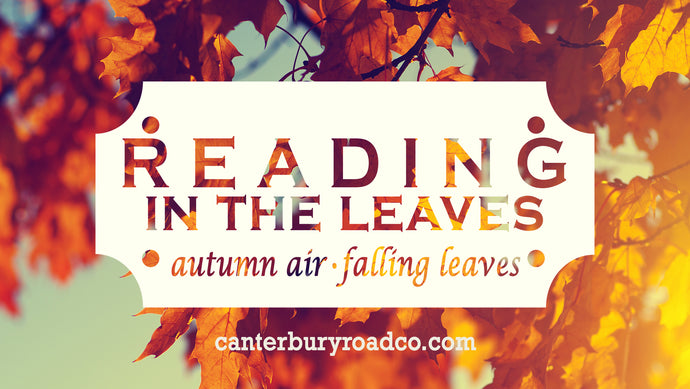 Reading In the Leaves | Literary Candle | Candles for Bibliophiles