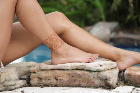 Courage Anklet Henna Tattoo