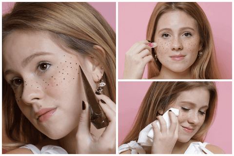 How to apply henna freckles