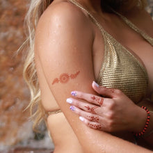 Load image into Gallery viewer, Aria - woman with shoulder and finger ring henna tattoos