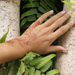 Athena - unique henna design on hand