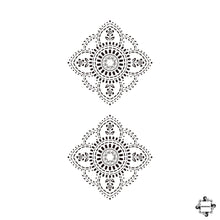 Load image into Gallery viewer, Blooms - mandala henna tattoo stencil