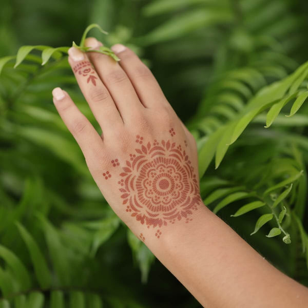 Blossom - mandala henna design in nature