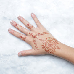 Camellia - jewelry and mandala henna designs for hands
