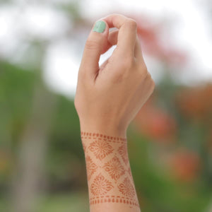 Courage - cuff henna design on wrist