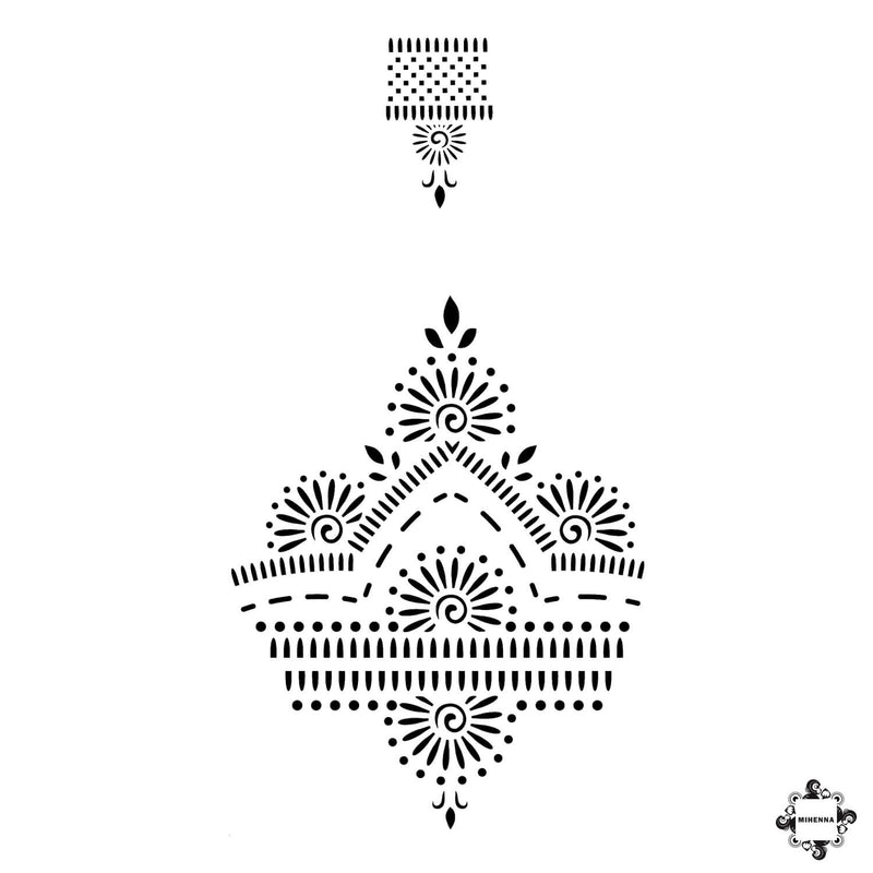 ab5c68621 Dahlia - back of hand and ring henna design sticker stencils