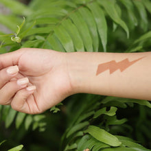 Load image into Gallery viewer, Dare - Shocking Lightning Bolt small temporary tattoo design