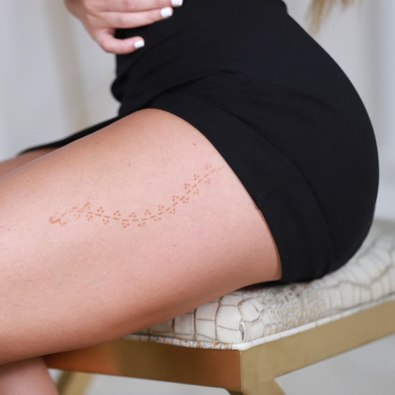 Jade - upper thigh henna design