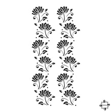 Load image into Gallery viewer, Jasmine - floral henna design stencil sticker