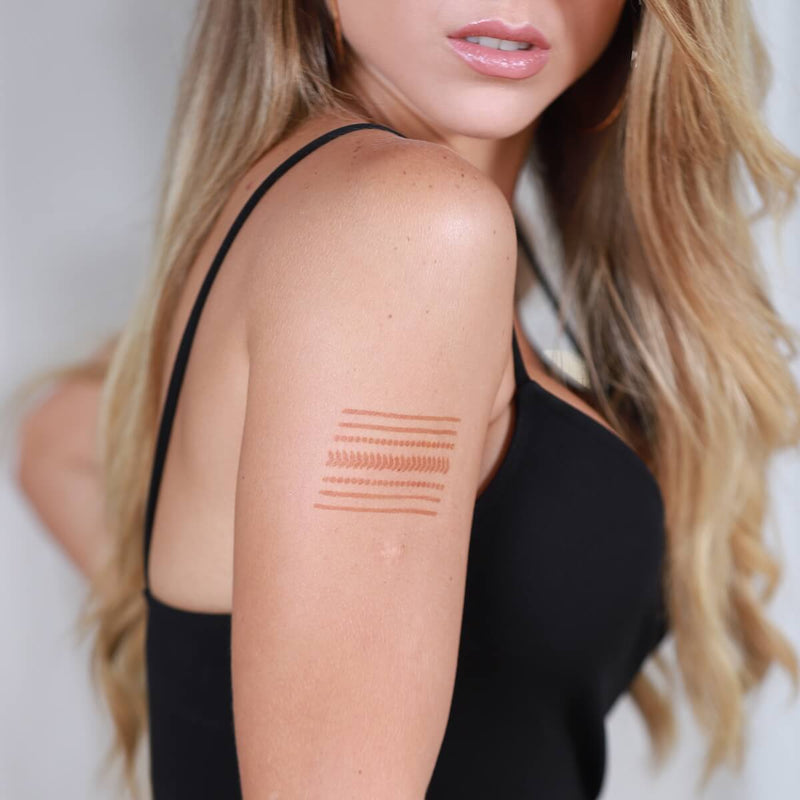 Miami - upper arm linear henna tattoo
