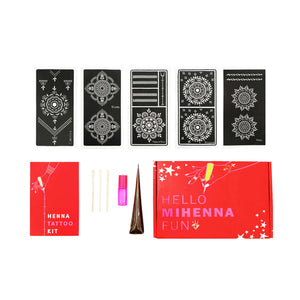 Mandala Henna Tattoo Kit has all our favorite mandala designs