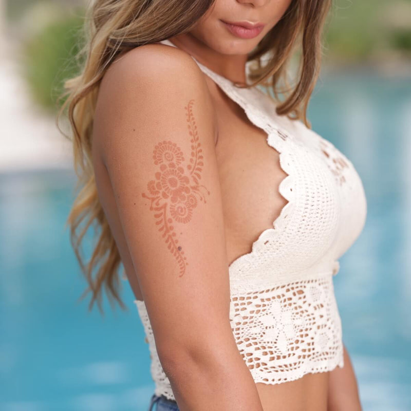 Phoenix - unique henna design on upper arm