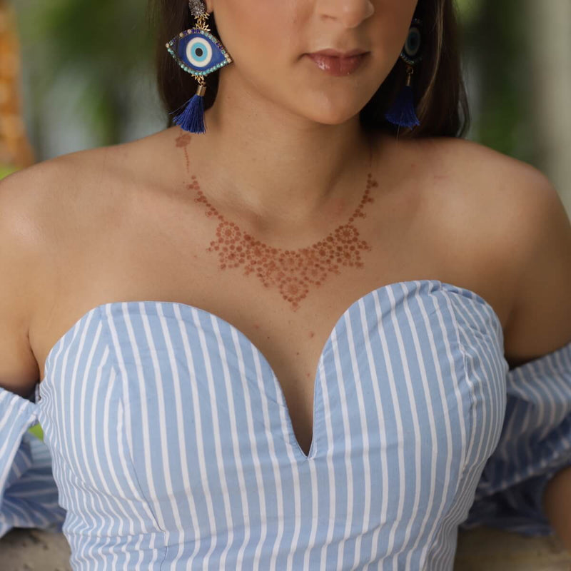 Princess - necklace henna design