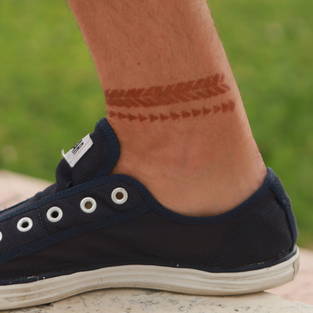Right Direction - henna designs for men on ankle