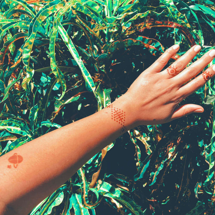 Truth - Small Accent Henna Tattoos on arm
