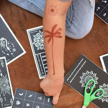 Load image into Gallery viewer, Palma - henna temporary tattoo of palm tree on forearm