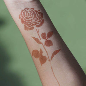 Rose - temporary tattoo of a rose on arm