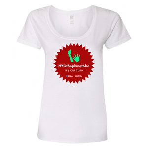 """It's Our Turn"" logo Ladies fit t-shirt"