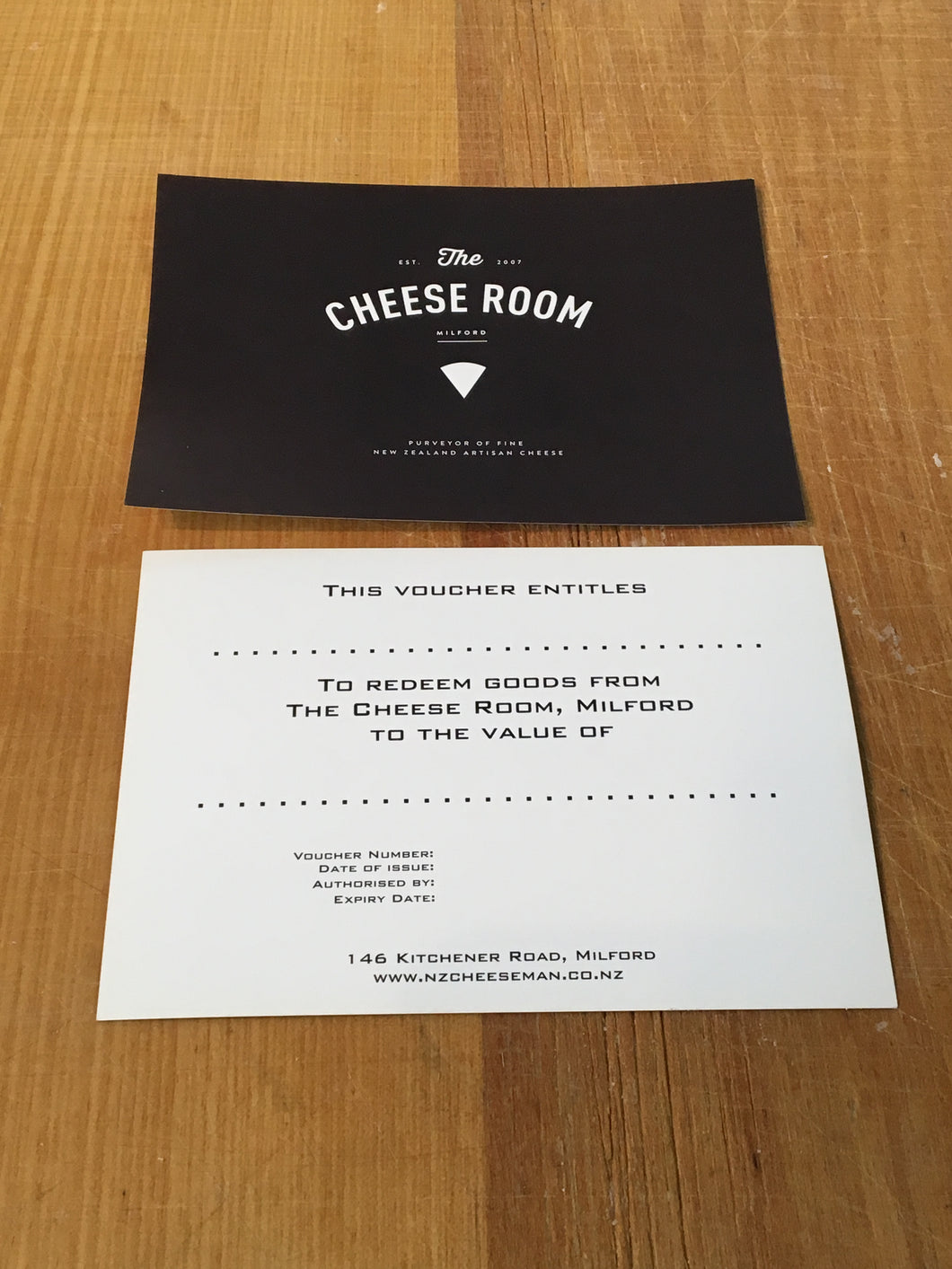 The Cheese Room Gift Voucher