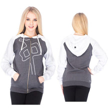Load image into Gallery viewer, RDS WOMENS ZIP 3D PUFF RAGLAN