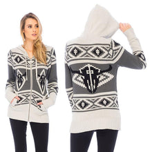 Load image into Gallery viewer, RDS WOMENS ZIP SWEATER BISON