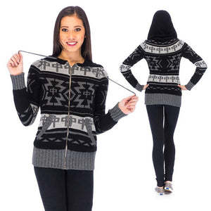 RDS WOMENS ZIP SWEATER DUNCAN