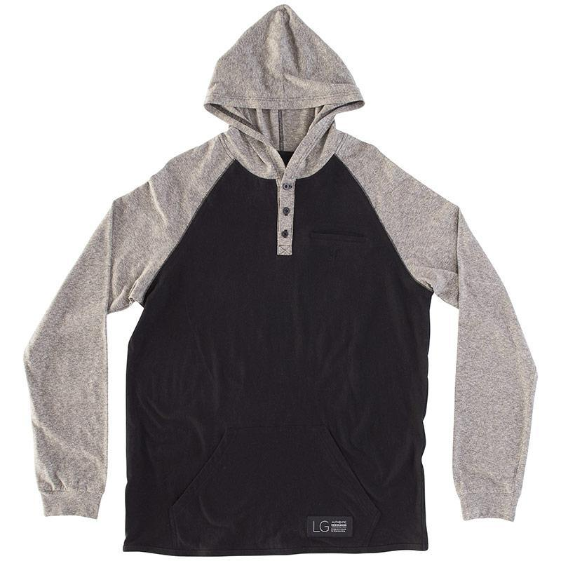 RDS L/S HENLEY POUCH HOODED