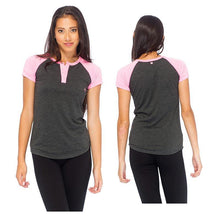 Load image into Gallery viewer, RDS WOMENS S/S HENLEY ELIJAH