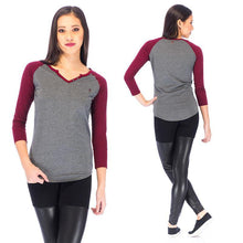 Load image into Gallery viewer, RDS WOMENS 3/4 HENLEY TINA